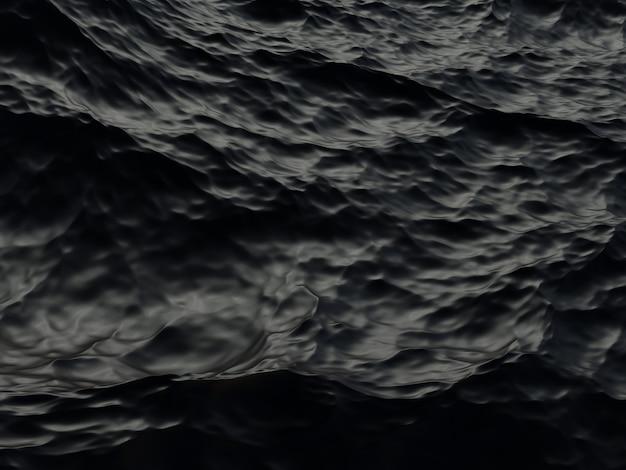 3d gerenderter abstrakter schwarzer wellenhintergrund