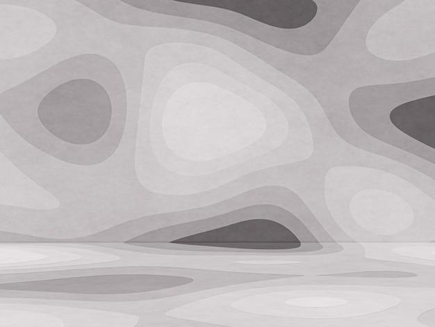 3d gerenderter abstrakter schwarzweiss-konturpapierkunsthintergrund