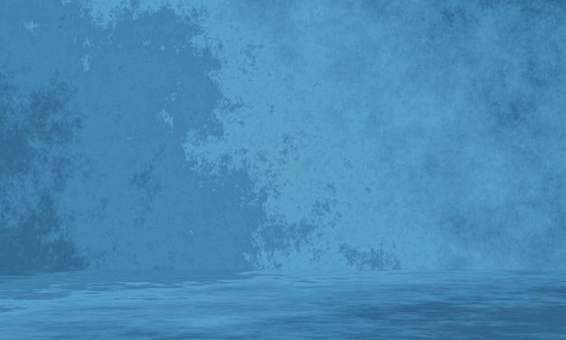 3d gerenderter blauer betonwandhintergrund