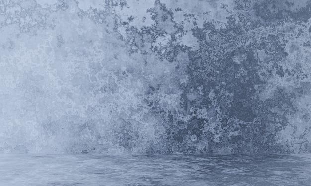 3d gerenderter grauer verwitterter zementwandhintergrund