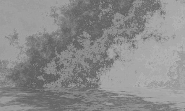 3d gerenderter grauer zementwandhintergrund
