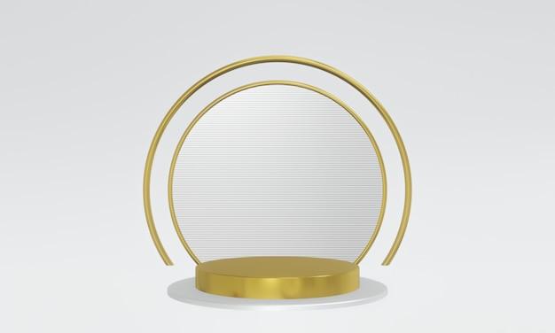 3d gerendertes gold- und splitterpodest