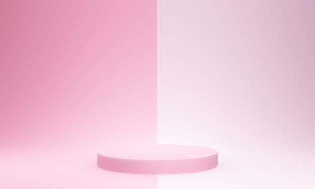 3d gerendertes rosa podiummodell