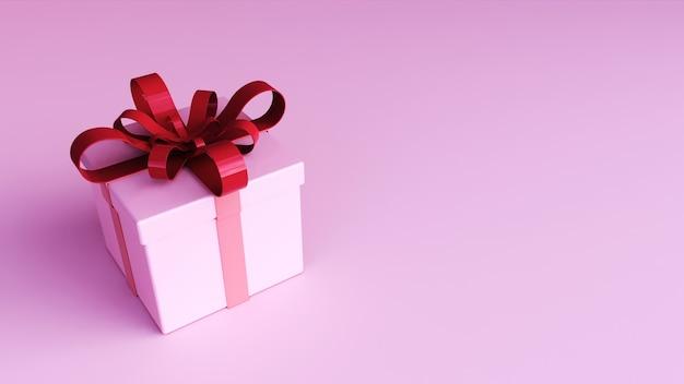 3d geschenkbox konzept rendering isoliert