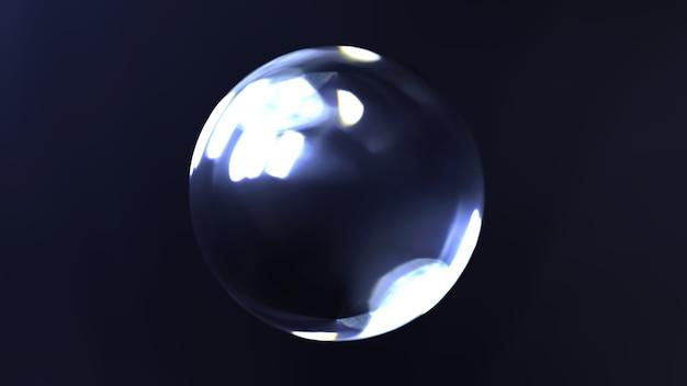 3d-glaskugelillustration