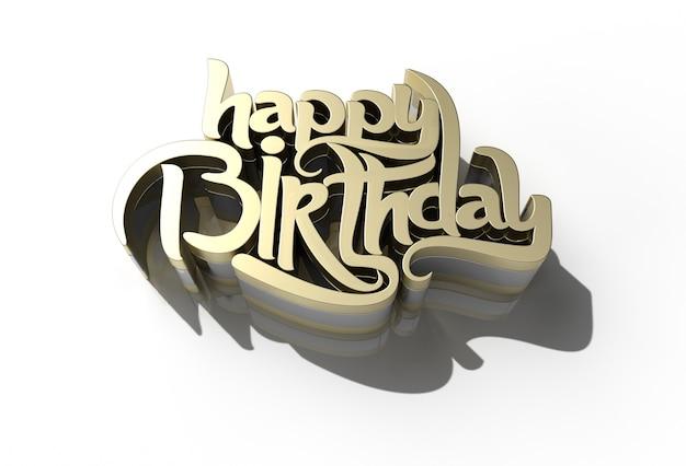3d happy birthday text - stiftwerkzeug erstellt beschneidungspfad in jpeg enthalten einfach zusammenzusetzen.