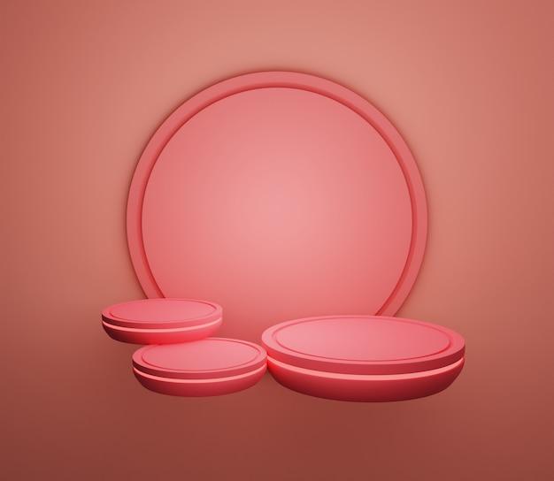 3d hintergrund illustration bühne wallpaper produkt einfache moderne abstrakte warme rosa pastell