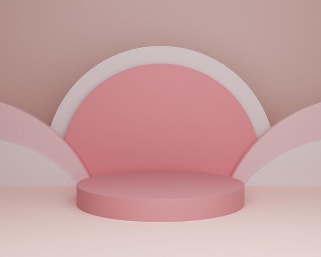 3d hintergrund illustration bühne wallpaper produkt einfaches modernes abstraktes rosa