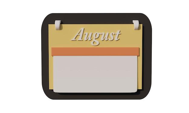 3d-icon-kalender im august