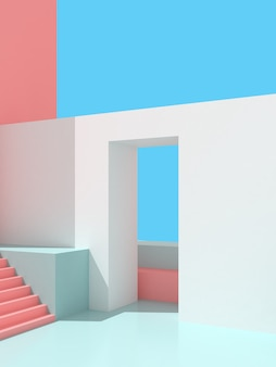 3d-illustration des abstrakten architekturhintergrunds.
