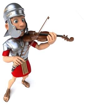 3d-illustration eines römischen soldatenvolonisten