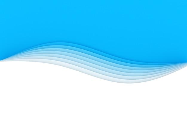 3d-illustration eines stereostreifens verschiedener farben. wellenähnliche geometrische streifen.