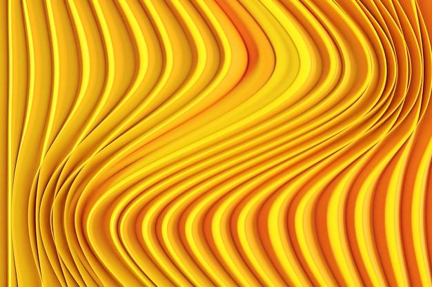 3d-illustration eines stereostreifens verschiedener farben