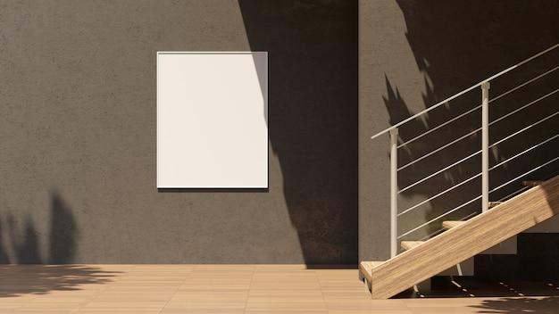 3d-illustration leerer plakatkopienraum für ihre textnachricht oder inhalt im freienwerbemodell, öffentliche informationstafel auf sonnenlicht der stadtstraße. leerer leuchtkasten am rande der stadt