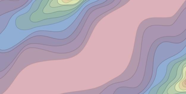 3d-illustration mehrfarbige papierschnittform abstrakte 3d-papierkunstart-geschäftspräsentations-flyerplakatdrucke