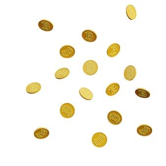 3d illustration von bitcoin mit weißem hintergrund