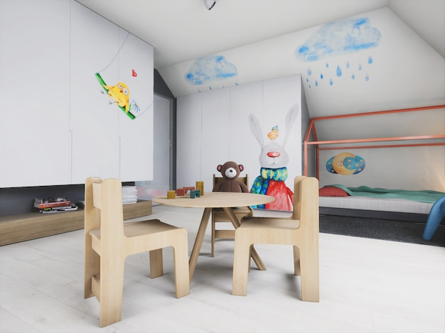 3d innenarchitektur baby boy room