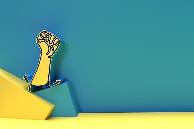 3d internationaler jugendtag poster, 3d-illustration design.