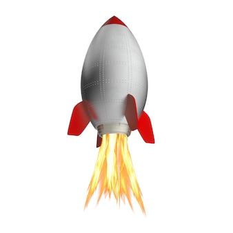 3d klassische rakete
