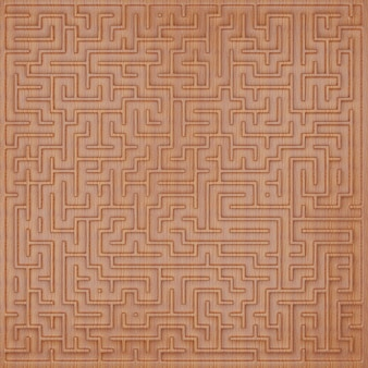 3d-labyrinth-design von oben wiev