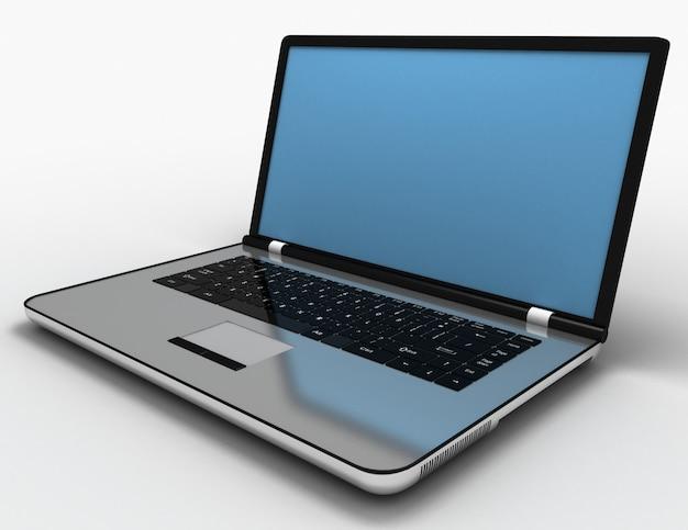 3d-laptop-konzept. 3d-illustration