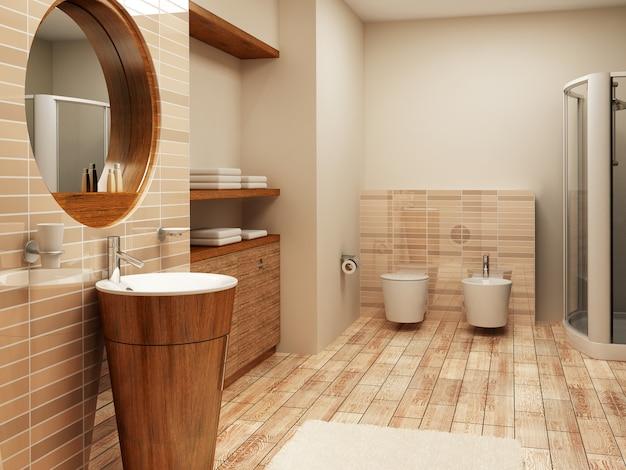 3d luxuriöses badezimmer