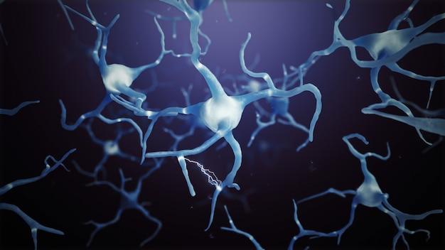 3d machen neuronenzellen verbindungen welt abstrakt