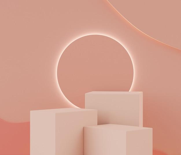 3d minimal pastell podium und geometrische formen