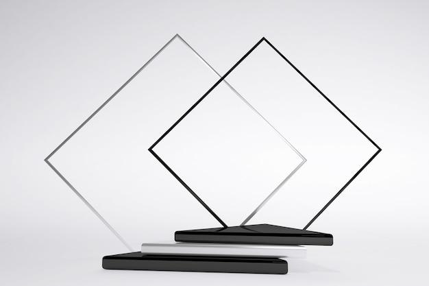 3d minimales schwarz-weißes geometrisches podium mit bogen isoliert auf weißem hintergrund minimale szene mit geometrischen formen