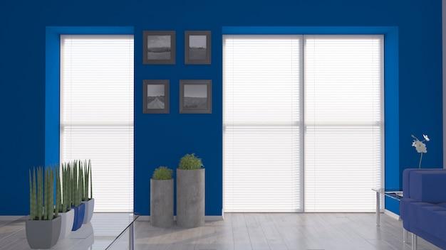 3d modernes wohnzimmer interieur und moderne möbel
