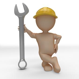 3d morph man builder mit schraubenschlüssel