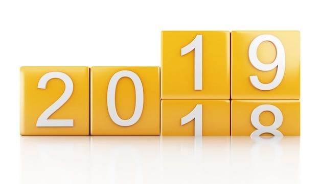 3d neues jahr 2019