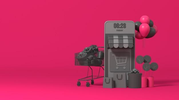 3d online e-commerce-shop