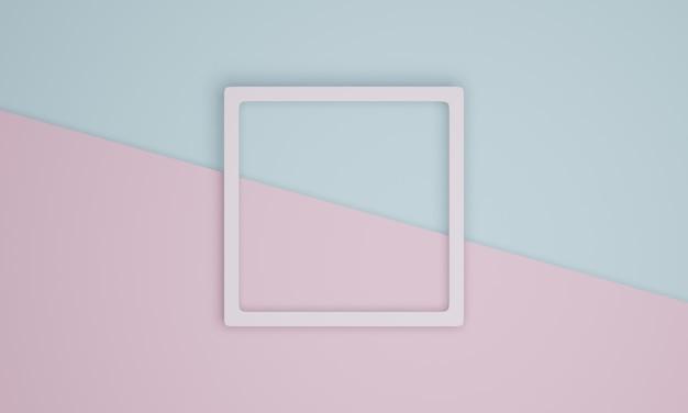 3d pastellrahmen und papierschnitt hintergrund
