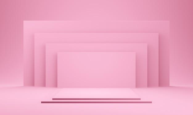 3d pink geometrische bühne