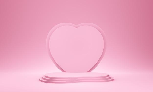 3d pink valentine bühne
