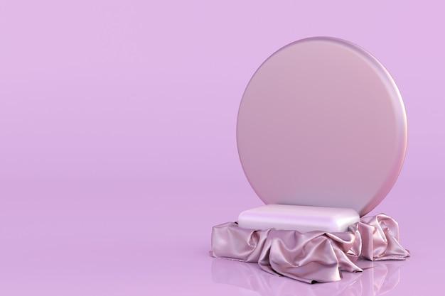 3d-podestsockel isoliert auf rosa pastellhintergrund minimale vorlage für das design abstraktes mock-up