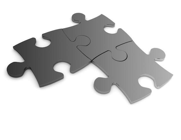 3d-puzzle-konzept isoliert auf weißem hintergrund