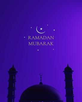 3d ramadan tapete, moderne moschee, 3d rendering