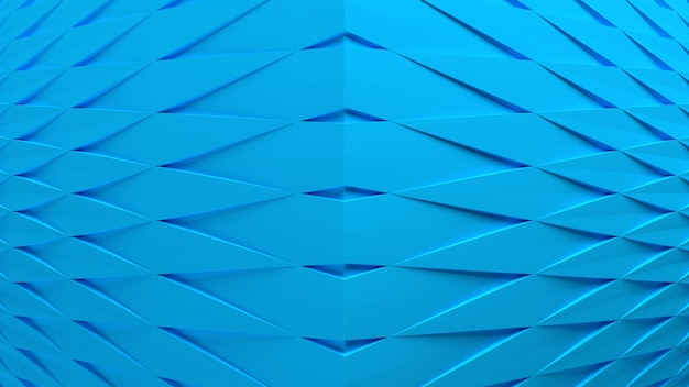 3d-render abstrakte blaue komposition hintergrundtapete geometrisches muster formt lichtbeleuchtung