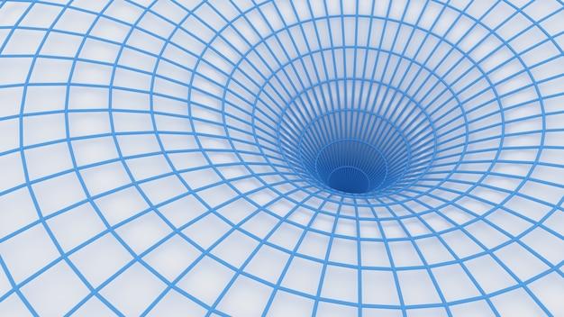 3d render abstrakte komposition absorbierende figur