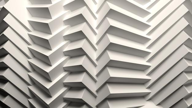 3d-render abstrakte weiße zusammensetzung hintergrundtapete geometrisches muster formt lichtbeleuchtung b