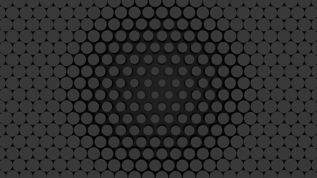 3d render abstraktes graues dunkles muster von geometrischen formen