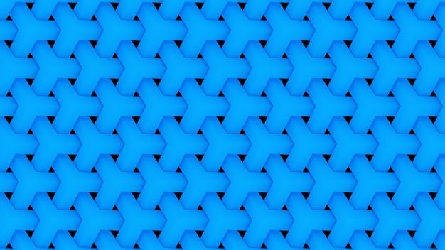 3d-render blau wiederholendes muster hintergrundbild