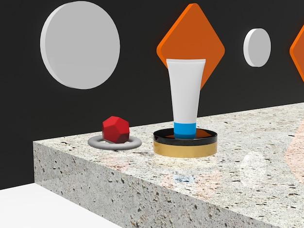 3d render cosmatics wallpaper hintergrund