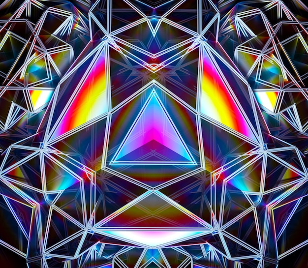 3d-render der abstrakten kunst mit festlichem surrealem magischem cyber-futuristischem 3d-fraktal