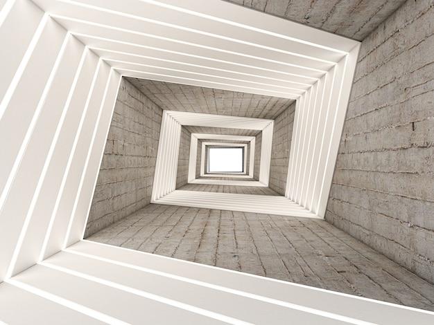 3d-render der zusammenfassung im tunnel