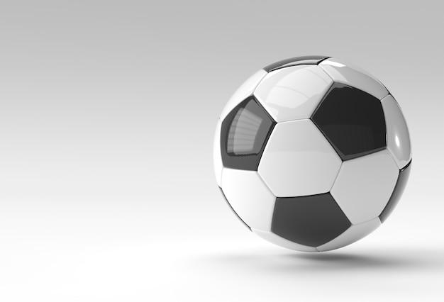 3d-render-fußball-illustration, fußball mit weißem hintergrund