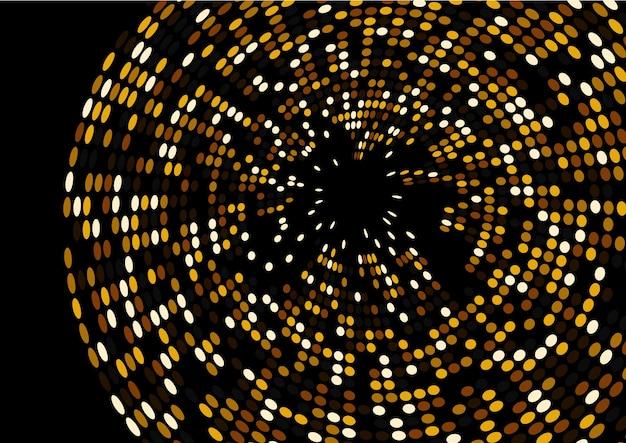 3d render gold glitter wave abstraktes design auf schwarzem hintergrund isoliert
