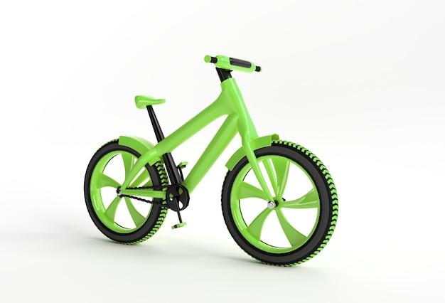 3d-render-konzept des modernen radfahrens 3d-kunstdesignillustration.